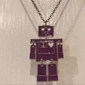 F21 purple robot necklace